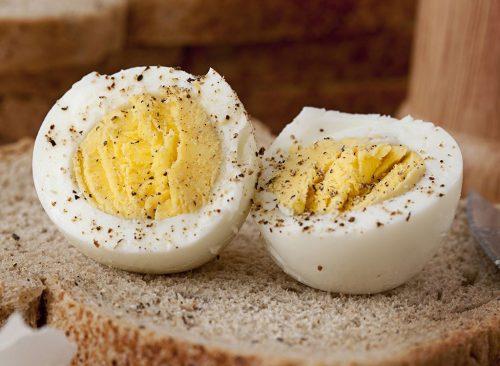Huevos duros: pérdida de peso dañina