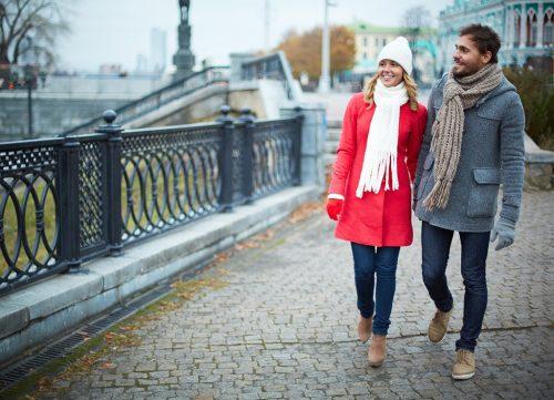 Feliz pareja de personas