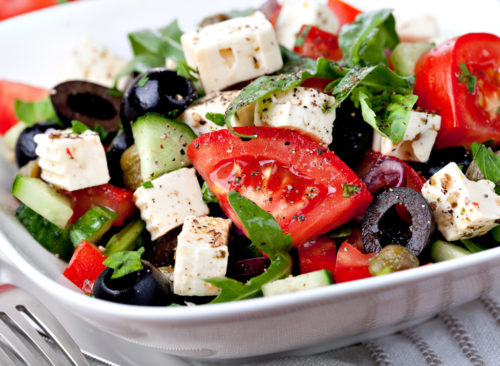 Ensalada de dieta mediterránea