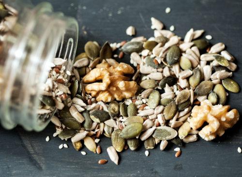 Semillas de lino, calabaza y ajonjolí